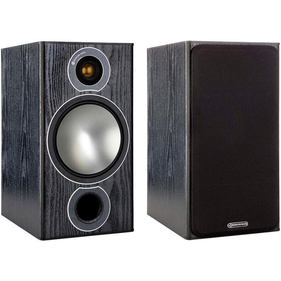 Monitor Audio Bronze 2 Bookshelf Speakers - Black Oak (Pair)