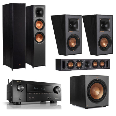 Klipsch Reference R-820F and Denon AVR-X2600H 5.1 Surround System