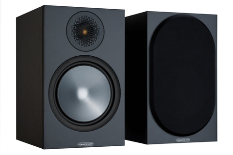 Monitor Audio Bronze 100 Bookshelf Speakers - Black (Pair)