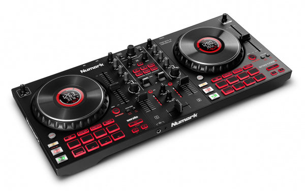 Numark Mixtrack Platinum FX - 4-Deck Advanced DJ Controller with Jog Wheel Displays and Effects Paddles