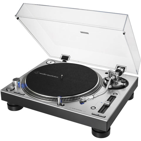 Audio Technica AT-LP140XPSV - Direct-Drive Professional DJ Turntable (Silver)