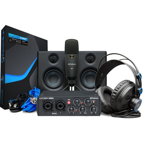 PreSonus AudioBox Studio Ultimate Bundle (25th Anniversary Black)