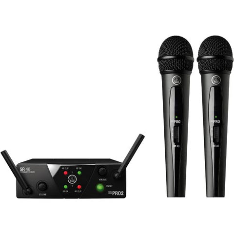 AKG WMS40 MINI DUAL VOCAL WIRELESS MICROPHONE SET