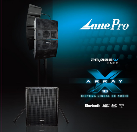 Lane Pro X Array 18 Line Array System