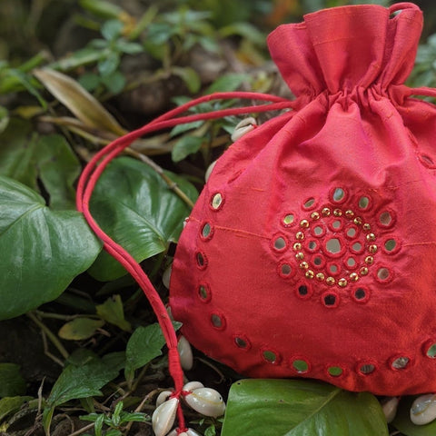 AAYA CORAL SHELL BAG