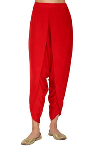 RED DHOTI PANTS