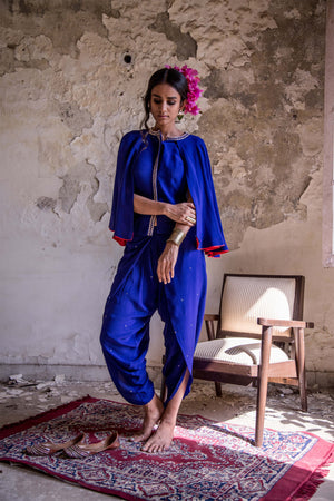 FLARED CAPE & DHOTI SET