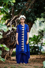 Load image into Gallery viewer, ASYMMETRIC TEMPLE KURTA & PANT SET