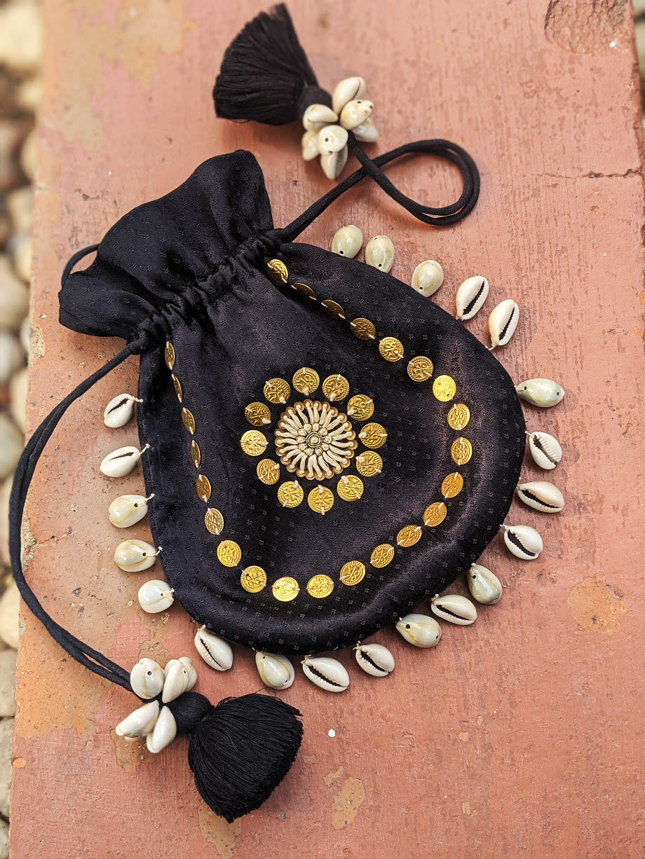 POTLI BAG - SITARA BLACK