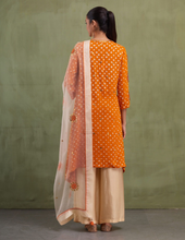 Load image into Gallery viewer, BEIGE & ORANGE SILK ODHNI