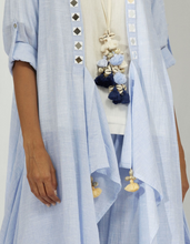 Load image into Gallery viewer, CHAMBRAY OVERLAY & TASSEL NECKLACE