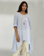 Load image into Gallery viewer, COTTON CHAMBRAY MIRROR TUNIC