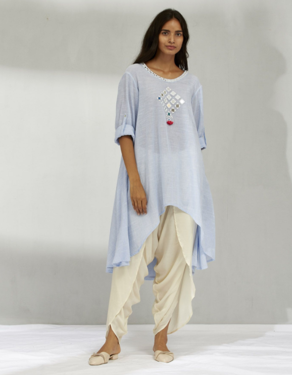 MIRROR TUNIC & DHOTI SET