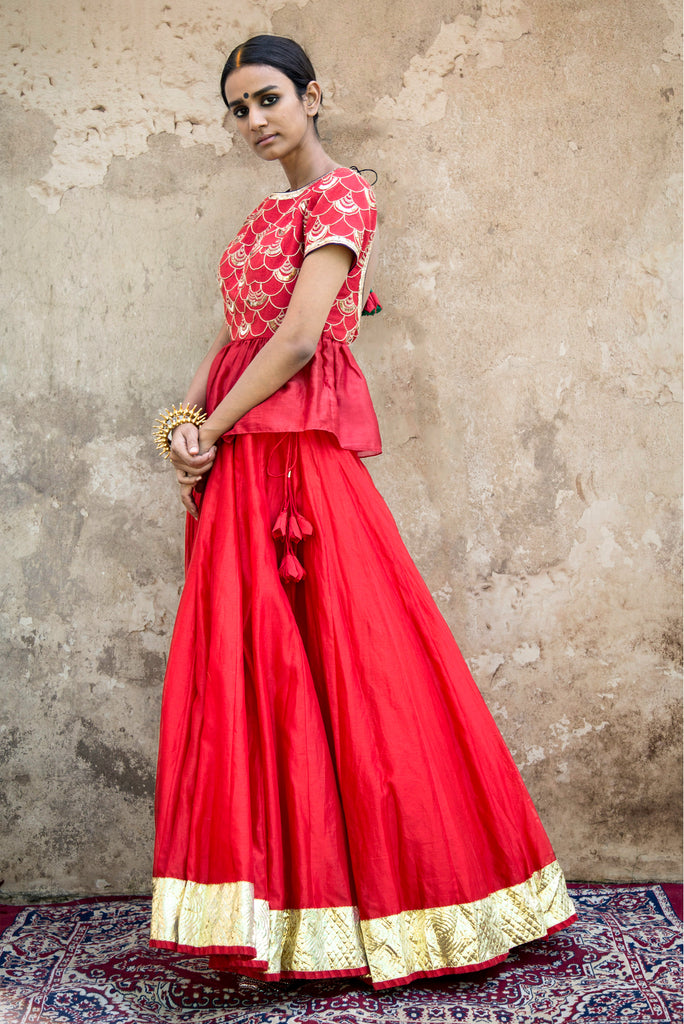 FISH SCALE LEHENGA SET