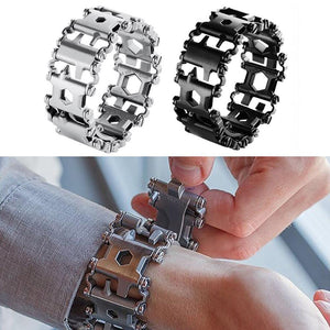 29-IN-1 STAINLESS STEEL MULTI-FUNCTIONAL TOOLS BRACELET-Alpha Manchester