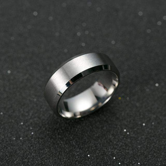 8MM TITANIUM FALCON RING-Alpha Manchester