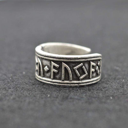 ANTIQUE SILVER VIKING RING-Alpha Manchester