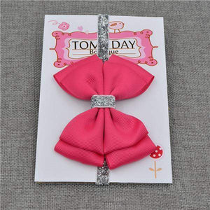 BABY HAIR BOW - Big Red