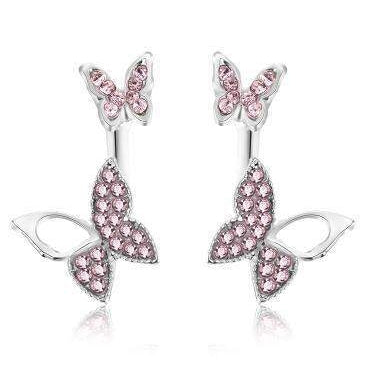 BUTTERFLY EARRINGS - Big Red