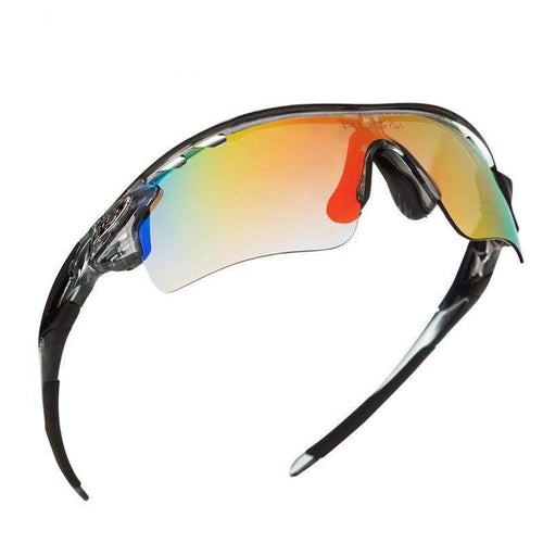 COOLCHANGE POLARISED CYCLING GLASSES - 5 LENSES - Big Red
