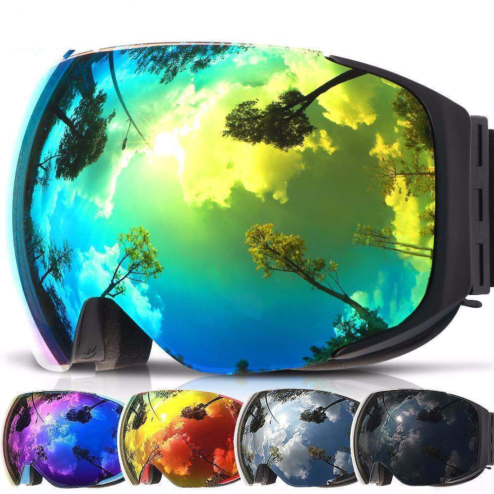 COPOZZ MAGNETIC LENS SNOW GOGGLES - 2018 VERSION - Big Red