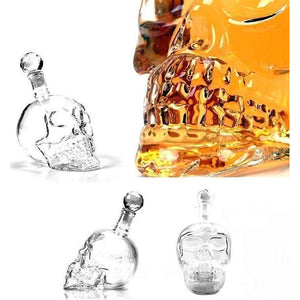 CRYSTAL SKULL HEAD DECANTER-Alpha Manchester