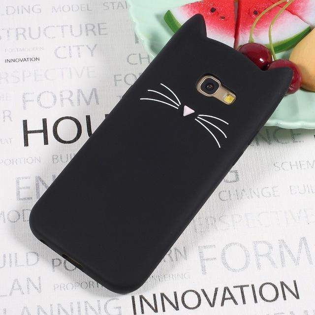 CUTE CAT SILICONE SAMSUNG CASE-Alpha Manchester