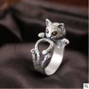 CUTE CAT WRAP AROUND RING - Big Red
