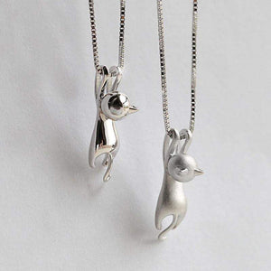 CUTE KITTY CAT CHARM PENDANT NECKLACE-Alpha Manchester