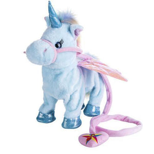 ELECTRIC WALKING TALKING UNICORN PLUSH TOY-Alpha Manchester