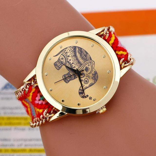 EXOTIC HAND BRAIDED ELEPHANT QUARTZ WATCH-Alpha Manchester