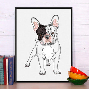 FRENCH BULLDOG CANVAS PRINT-Alpha Manchester