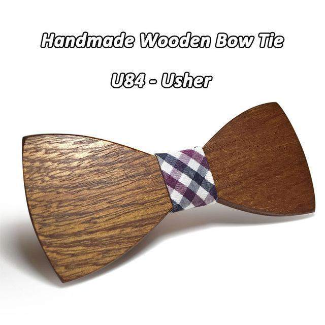 HIPSTER BAMBOO BOW TIE - Big Red