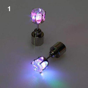 LED ICE EARRINGS - Big Red