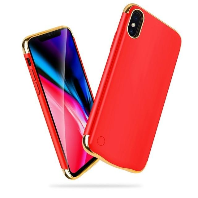 LUXURY ULTRA-THIN IPHONE SMART CHARGING CASE - Big Red