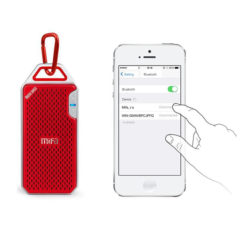 MIFA™ - DURABLE OUTDOOR BLUETOOTH SPEAKER - Big Red
