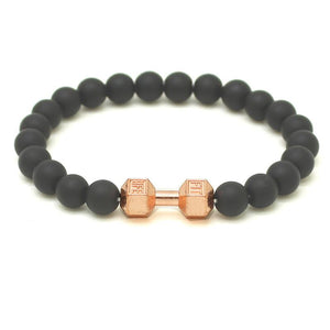 NATURAL STONE DUMBBELL BRACELET - Big Red