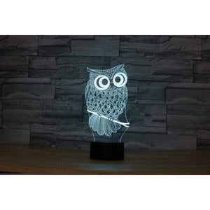 OWL '3D LED' Optical Illusion Lamp-Alpha Manchester