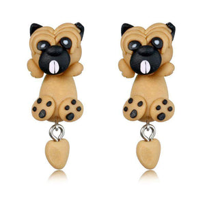 PADDY THE PUG EARRING - Big Red