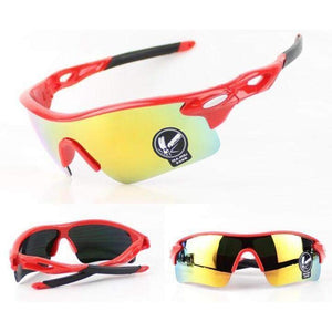 RAINTREE TX90 IMPACT RESISTANT CYCLING SUNGLASSES - Big Red