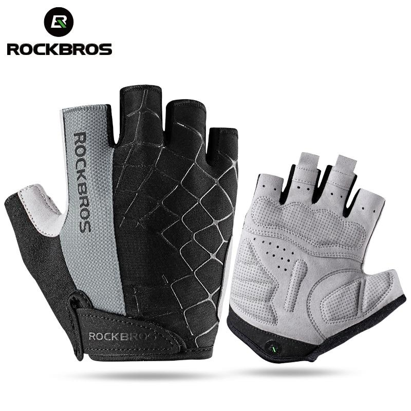 ROCKBROS ANTI SLIP HALF FINGER CYCLING GLOVES - Big Red