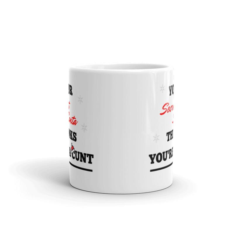 Secret Santa Rude Mug - Big Red