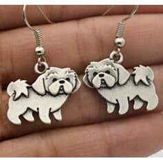 SHIH TZU EARRINGS - Big Red