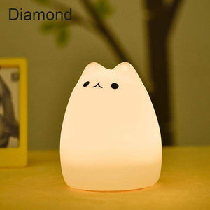 SILICONE CAT LED NIGHT LIGHT-Alpha Manchester