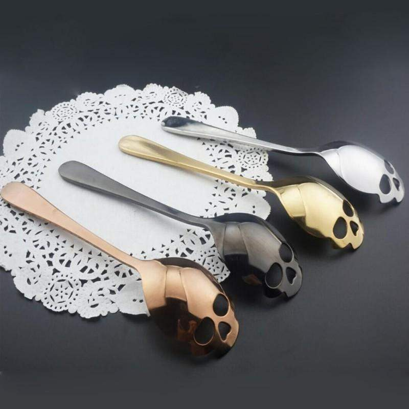 STAINLESS STEEL SKULL SPOON-Alpha Manchester