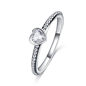 STERLING SILVER LOVE HEART RING-Alpha Manchester