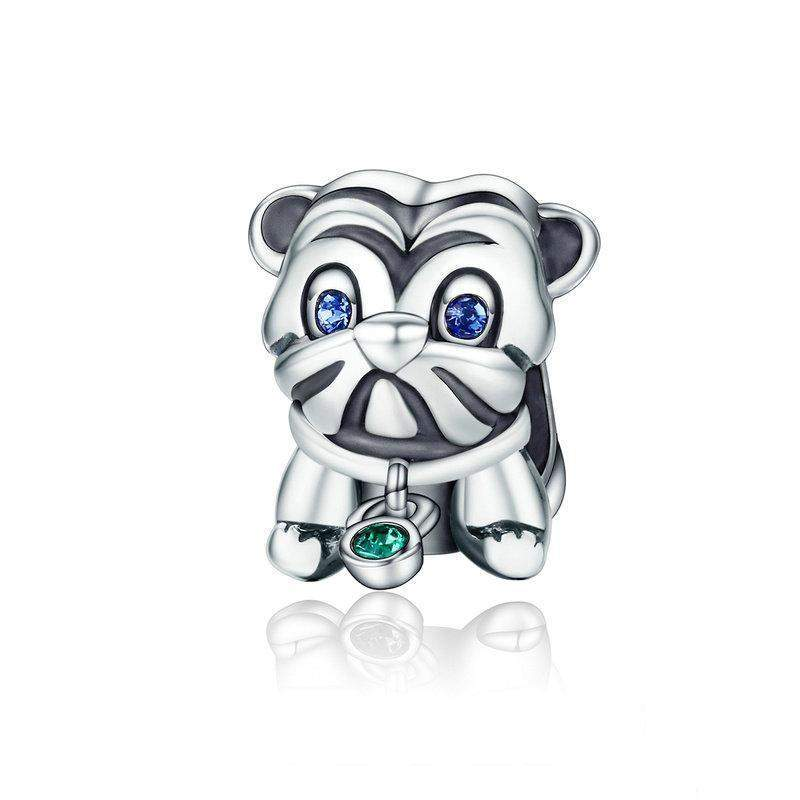 STERLING SILVER PUG CHARM - Big Red
