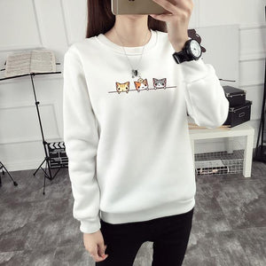 THREE KITTEN CAT SWEATER-Alpha Manchester