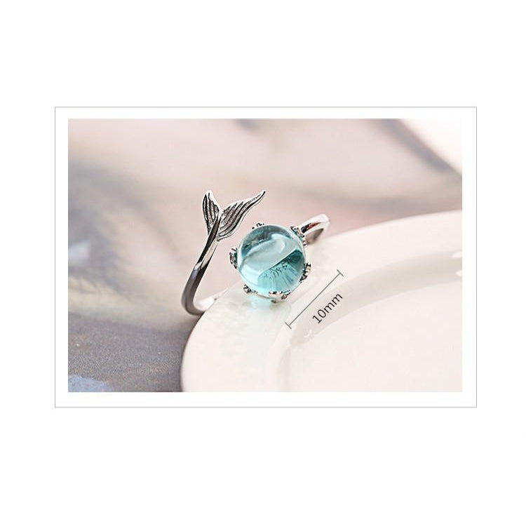 TINY PIECE OF THE OCEAN 925 STERLING SILVER RING-Alpha Manchester