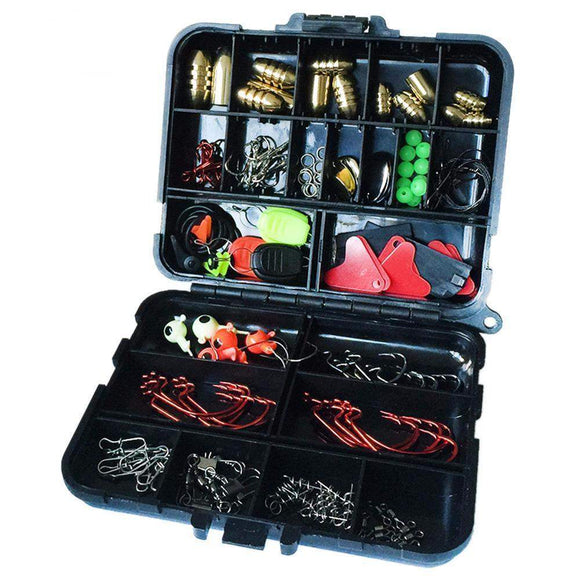 ULTIMATE FISHING TACKLE BOX - 128 PIECES-Alpha Manchester